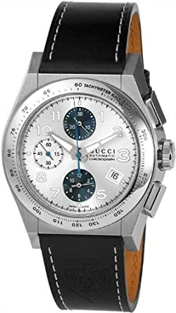 92299619aee Gucci Pantheon XL Automatic Chronograph Steel Mens Strap Watch Date  YA115233  Amazon.co.uk  Watches