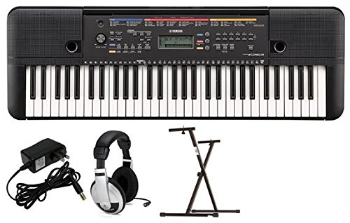 Yamaha PSRE263 Portable Keyboard Package with YXKS Stand by YAMAHA