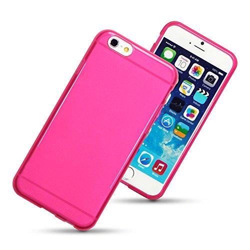 "Apple iPhone 6 4,7 ""en TPU Gel Skin-Qubits Étui à rabat rose vif (118"