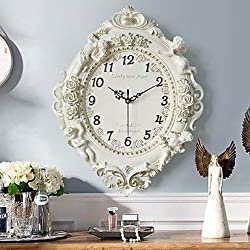 MGE UPS Systems Clock Wall Clock,Modern/Contemporary Houses Creative European Decorative Dumb Wall Clock New Orleans Polyresin Indoor Clock