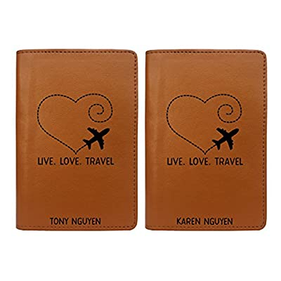 d941cf1bf Live Love Travel - Couple Passport Holder Personalized Passport Cover Set  of 2 best