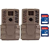 Moultrie A30 12MP 60 Video LowGlow IR Game Trail Camera + 16GB SD Card (2 Each)