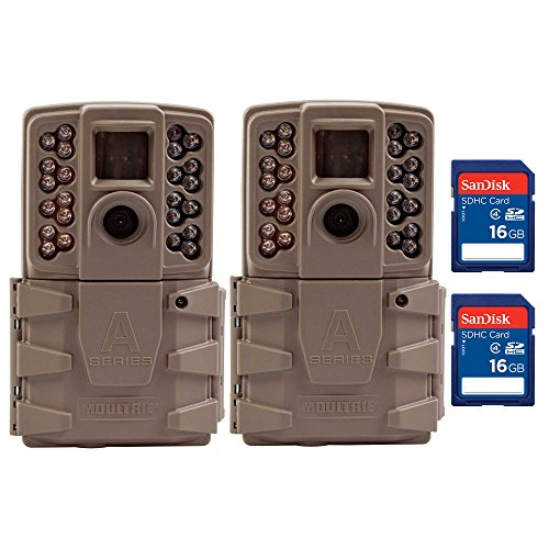 Moultrie A30 12MP 60' Video LowGlow IR Game Trail Camera + 16GB SD Card (2 Each)