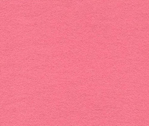 Bubble Gum Pink 100% Cotton Flannel Baby Fabric By the Yard Made in USA