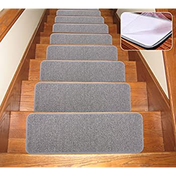 SOLOOM Carpet Stair Treads Non Slip Indoor Set Of 13 Stair Treads  Rug/Covers/