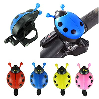 charmsamx Unique Beetles Kids Bicycle Bell and Horns Unique Vintage Mini Cute Bicycle Bell Squeeze Horns Child Bike Accessories Children's Safe Cycling Ring for Bicycle Handlear (Blue): Home Improvement