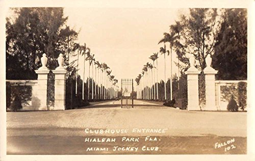 Hialeah Park Florida Clubhouse Entrance Real Photo Antique Postcard - In Hialeah Stores