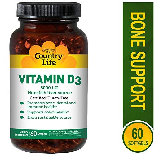 COUNTRY LIFE Vitamin D3 5000 IU, 60 CT
