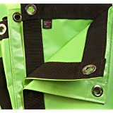 Tarp, Heavy Duty, Lime Green, Waterproof, 18 Oz. Vinyl w/ Reinforced Edges (4' X 4' Feet)