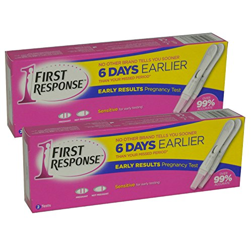 2 x First Response Pregnancy Testing Kits OLD STYLE  4 Tests