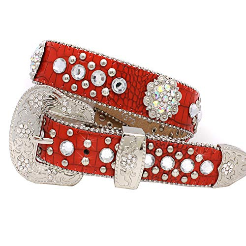 XS-1372-KIDS GIRLS WESTERN BELTS (Red)