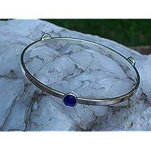 Recycled Vintage 1960's Cobalt Noxzema Jar Stacking Bangle Bracelet
