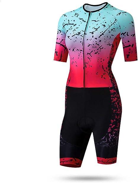 Triatlón Ropa Traje Ciclismo Mujer Exterior Sportswear con Gel Pad ...