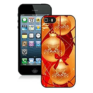 Popular Design Iphone 5S Protective Case Merry Christmas iPhone 5 5S TPU Case 84 Black