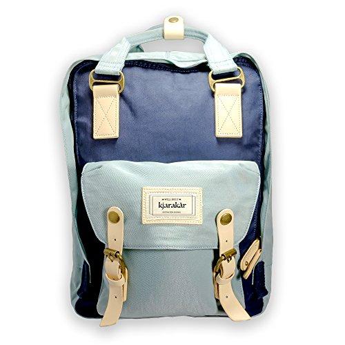 Kjarakar Vintage Backpack School Bookbag Best Laptop Bag Weekender Satchel Diaper Water Resistant
