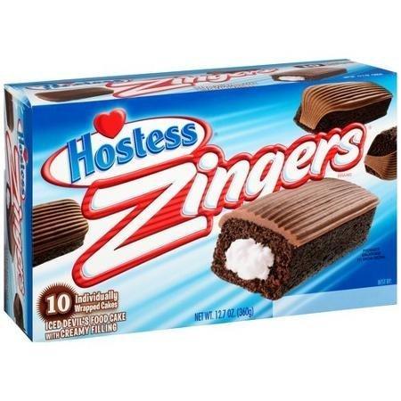 Hostess Zingers Iced Devil's Food Cake 10 Per Box
