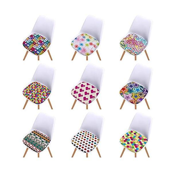 Bledyi, Cuscino Quadrato colorato per Sedia, per Interni ed Esterni, per Soggiorno, Patio, Ufficio, 40 x 40 cm 7 spesavip