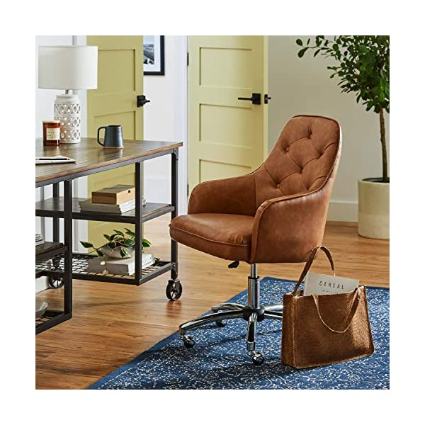"Amazon Brand – Stone & Beam Elias Industrial Metal Office Computer Desk, 60""W, Brown/Black"
