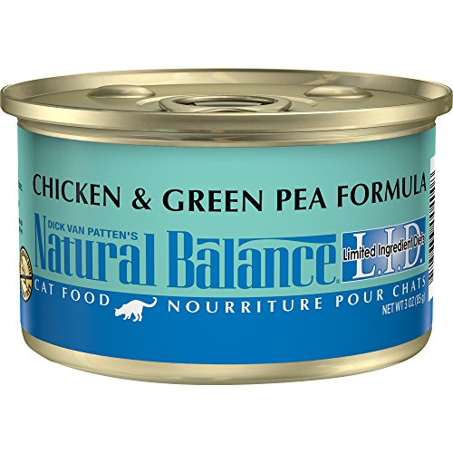 Natural Balance L.I.D. Limited Ingredient Diets Wet Cat Food, Chicken & Green Pea Formula, 3-Ounce Can (Pack Of 24)