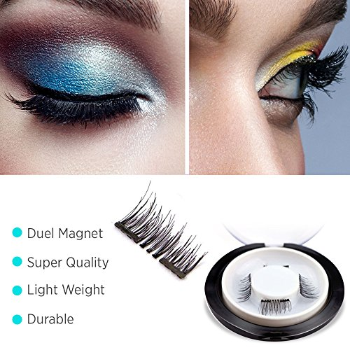 【Upgrade】Glamorous Magnetic False Eyelashes,1 Pair of 4 P...