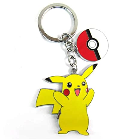 Pikachu with Pokeball Keychain