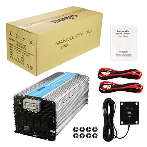Giandel 5000W Power 12V to 120V with Remote Control 4 Outlets USB Truck Boat
