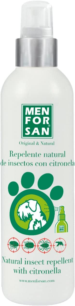 MENFORSAN Repelente Natural de Insectos con citronela Perros - 250 ml