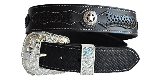 Concho Western Leather (Men brown coffee black texas star concho western leather belt M L XL (M,)