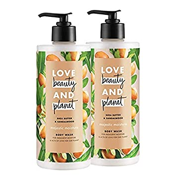 Love Beauty and Planet Majestic Moisture Body Wash, Shea Butter Sandalwood, 16 oz, 5 count 5 Count