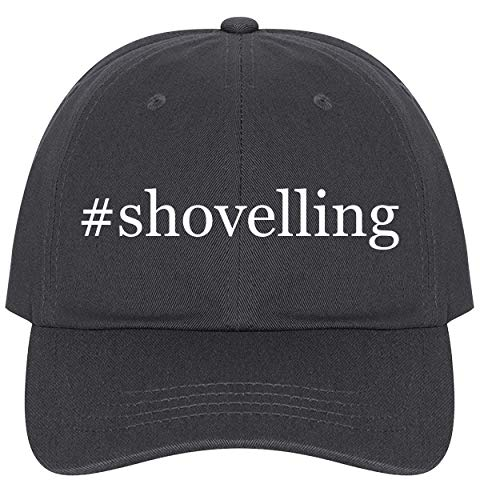 The Town Butler #Shovelling - A Nice Comfortable Adjustable Hashtag Dad Hat Cap, Dark Grey