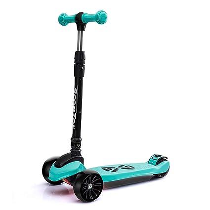 Patinetes de tres ruedas Scooter de Patinaje para niños con Cubierta Extra Ancha, 4 Ruedas