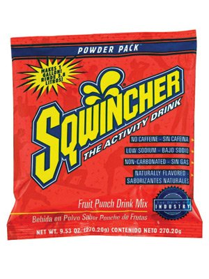Sqwincher® 9.53 Ounce Instant Powder Concentrate Packet Fruit Punch Electrolyte Drink - Yields 1 Gallon (20 Packs)