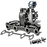 2004 vw jetta tdi turbocharger - VW Golf/Jetta GT17 Diesel Turbocharger w/Manifold & Wastegate Turbine A/R .61 + 30 psi Boost Controller (Black)