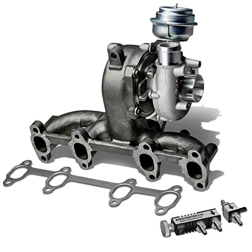2004 Volkswagen Beetle Turbocharger (VW Golf/Jetta GT17 Diesel Turbocharger w/Manifold & Wastegate Turbine A/R .61 + 30 psi Boost Controller (Black))