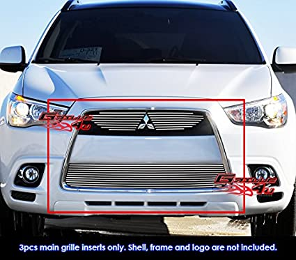 For 2011 2012 Mitsubishi Outlander Sport Billet Grille Grill Inserts