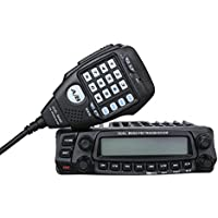 AnyTone Dual Band Car Truck Mobile Radio VHF UHF FM Transceiver w/ Microphone Walkie Talkie Amateur 758 Channels 136/174/400/490MHz 2/5 Tone CTCSS/DCS