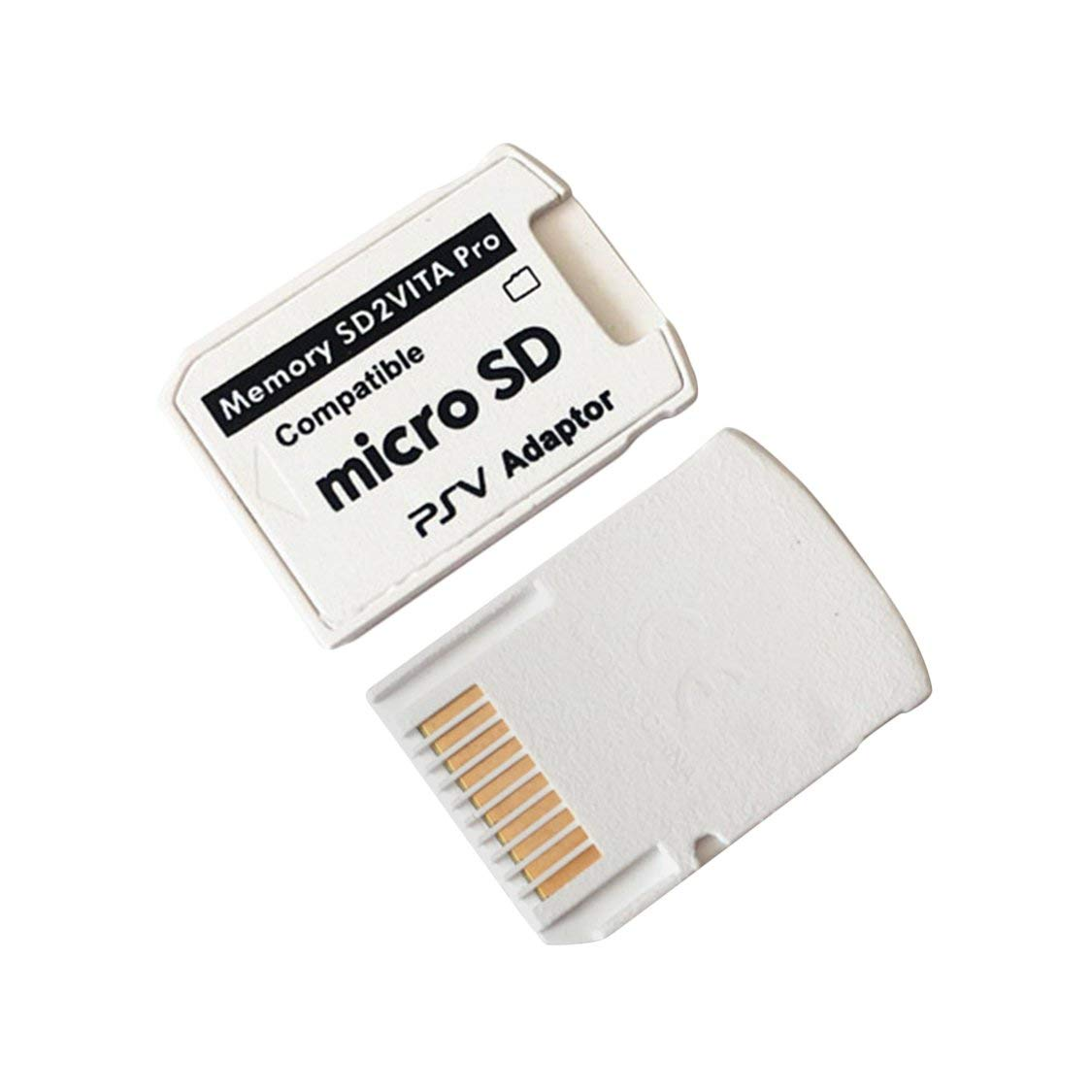White Professional Small Size Version 5.0 SD2VITA Adapter For PS Vita Memory TF Card for PSVita Game Card1000//2000 PSV Adapter
