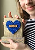 Sweet & small blue DAD string art heart sign. Perfect Father's Day gift. I love you Dad, by Nail it Art. #1 Dad