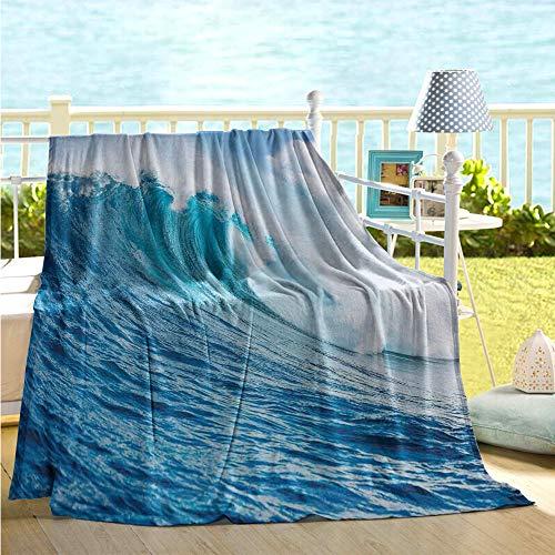 maisi Ocean Decor Throw Blanket Large Powerful Pasific Surf Sea Wave Crashes Hard All Season Blanket (Pottery Barn Kids Surf Bedding)