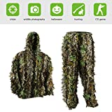 PELLOR Kids 3D Leafy Ghillie Camouflage Hunting Suit (Camouflage, Fit tall 4.3-4.9ft)