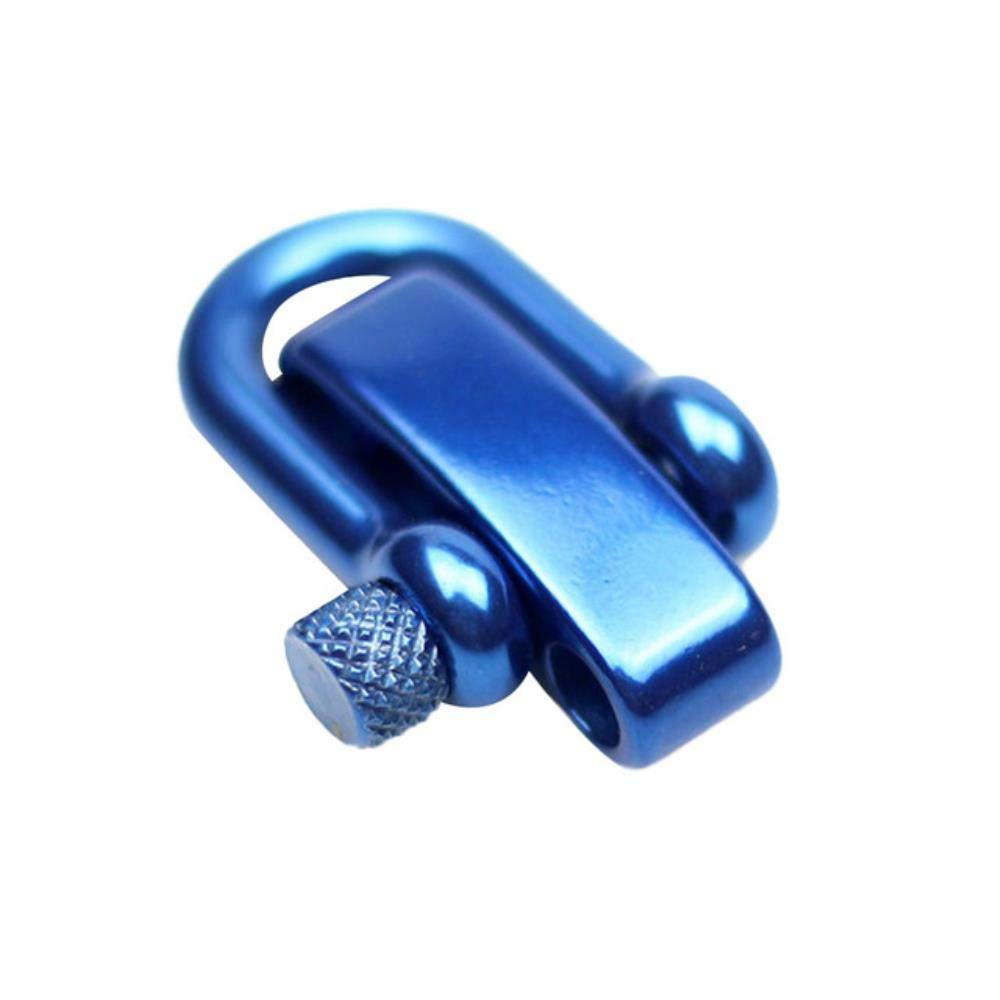 LLAAIT U Flat Adjustable Shackle Buckle Clasp for Survival Paracord Bracelet for Outdoor DIY Umbrella Rope Bracelet Parachute Cord,Black