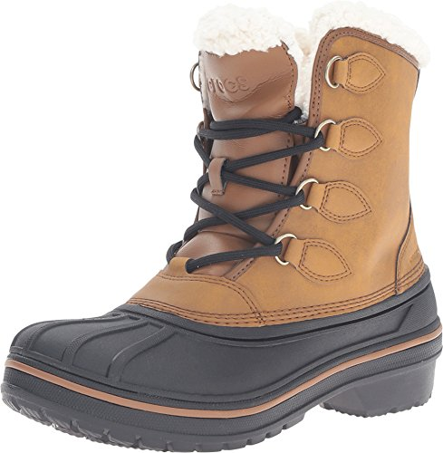 crocs Women's AllCast II Wheat Snow Boot, Wheat, 7 M US