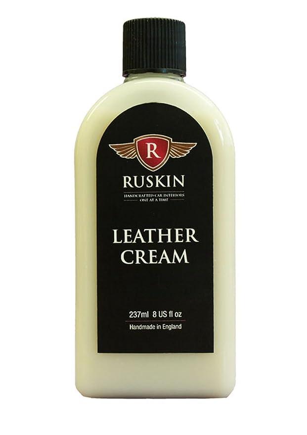 Ruskin Crema Cuero y Acondicionador 237ml - Deje de Craqueo de piel, decoloración y secado exprés - Nueva Olor Cuero - no tóxico, libre de disolventes ...