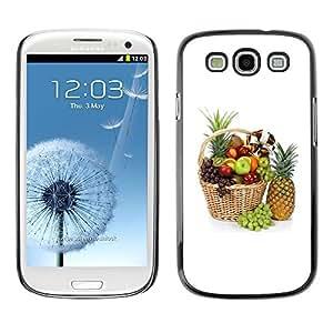 TopCaseStore / la caja del caucho duro de la cubierta de protección de la piel - Fruit Macro Beautiful Fruits - Samsung Galaxy S3 I9300