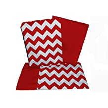 BabyDoll Chevron Crib and Toddler Sheet Set, Red