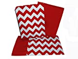 BabyDoll Chevron Crib and Toddler Sheet Set, Red