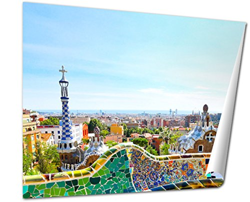 Ashley Giclee Barcelona Spain July 25 The Famous Park Guell On July 25 20, 20x25 Print by Ashley Giclee