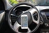 GO-VUU™ Soporte para teléfono celular universal - Su teléfono se mantiene vertical incluso cuando gira el volante - Manténgase a salvo y mantenga las manos libres - GPS, videochat y más para automóviles, camiones y SUV
