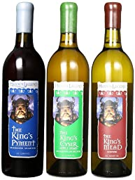 Hidden Legend Traditional Mead Variety Mixed Pack, 3 x 750 mL