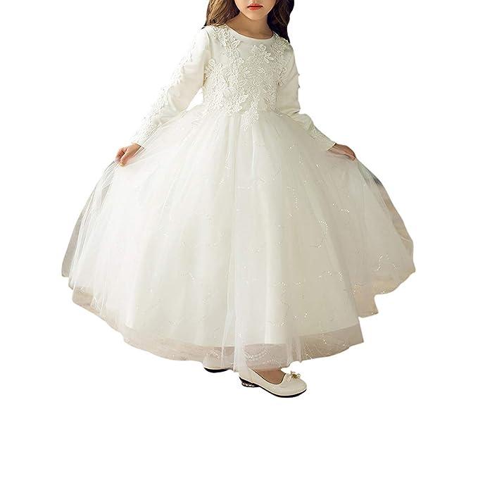 107fbdc21 Zhhlaixing Vestido Elegante de Princesa Fiesta para Niñas Tutú Vestido para  Chica 3 a 8 Años para Ocaciones Especiales  Amazon.es  Ropa y accesorios